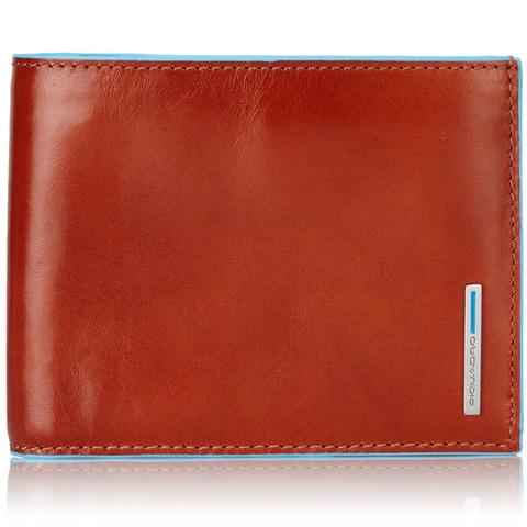 Портмоне Piquadro Blue Square, оранжевое, 12,5х9,5х2,5 см