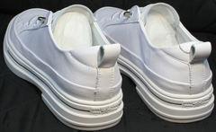 Летние спортивные туфли сникерсы женские El Passo sy9002-2 Sport White.