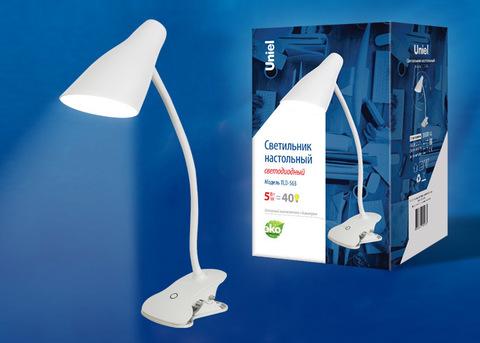 TLD-563 White/LED/360Lm/4500K/Dimmer Светильник настольный, 5W. Сенсорный выключатель. Белый. ТМ Uniel