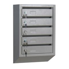 Ящик почтовый КП-5 5-секционный металлический серый (380x190x590 мм)