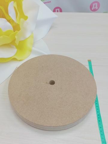 Деревянная основа круглая для цветов и светильников 300х300х35мм, МДФ