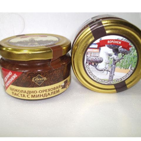 Паста Шоколадно-ореховая с миндалем стекло, 200г (Дизар)
