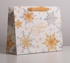 Пакет ламинированный горизонтальный «Волшебные снежинки», ML 27 × 23 × 11,5 см, 1 шт.