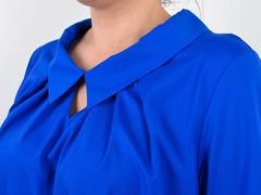 Биата. Женская блузка для больших размеров. Электрик.