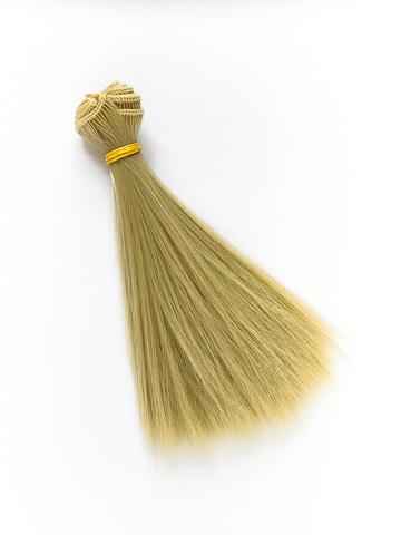Волосся для ляльки, Let's make треси 15 см. Холодний Блонд