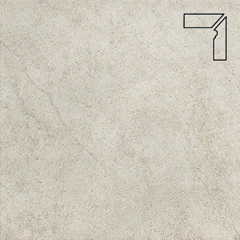 Interbau - Nature Art, Tangra grau/Серебристый, цвет 110 - Клинкерный плинтус ступени правый