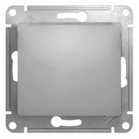 Выключатель одноклавишный, 10АХ. Цвет Алюминий. Schneider Electric Glossa. GSL000311