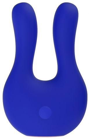 Синий клиторальный стимулятор Exceptional - 10,4 см.