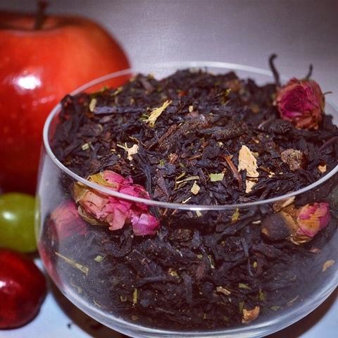 Черный десертный чай Малиновый сад ЧАЙ ИП Кавацкая М.А. 0,1кг