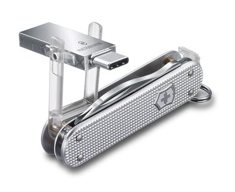 Нож-брелок Victorinox Jetsetter, USB 16 Гб, 58 мм, 6 функций, серебристый123