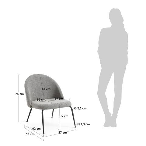 Кресло Mystere серое