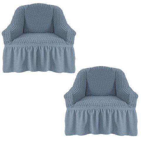 Чехол на два кресла, светло-серый