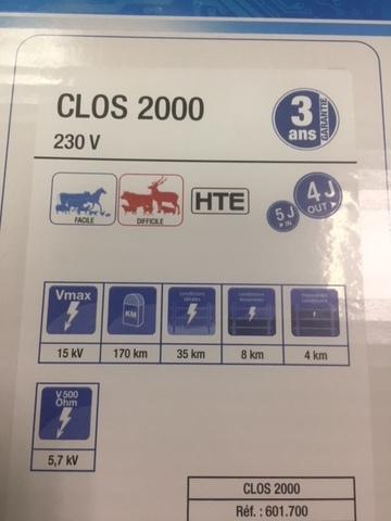 Генератор CLOS 2000 HTE   длина проводов до 170 км.