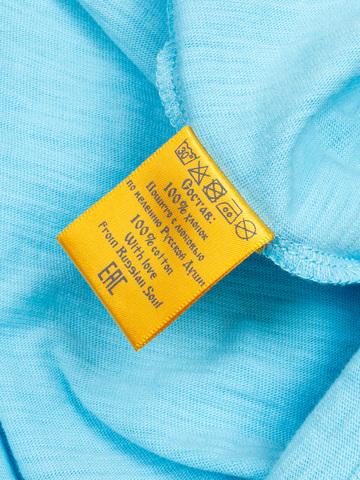 Женская футболка «Великоросс» ярко-голубого цвета