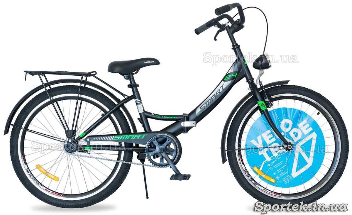 Formula Smart - черно-зеленый с фонарем