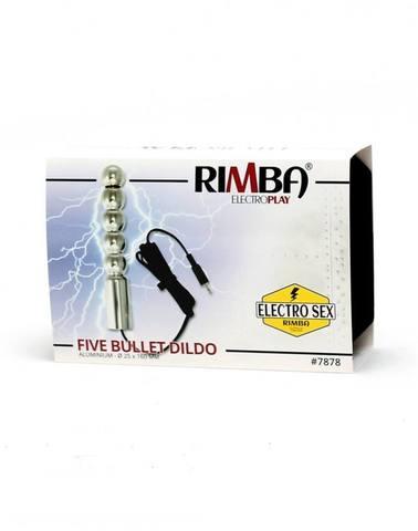 Анальная электро-ёлочка. Rimba Electro Sex Dildo Multi Bullet, Bi-Polar (160 Mm)
