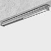 Пример установки на ровную поверхность аварийного светодиодного промышленного светильника с рассеивателем из закаленного стекла Iron GL
