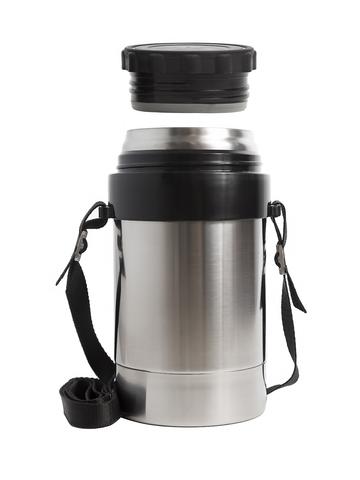 Термос для еды Амет DS Дорожный (1 литр) с широким горлом, на ремне