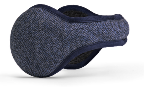 American Wool Navy Herringbone