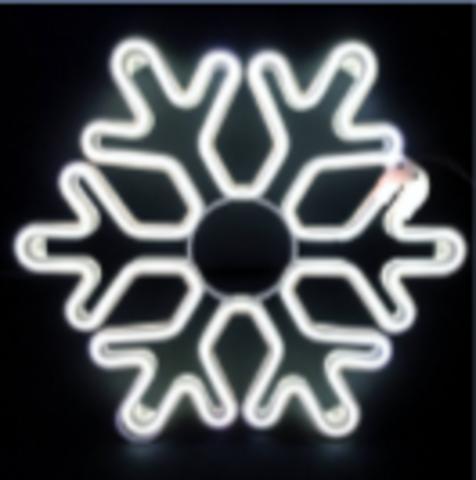 Гирлянда неоновая снежинка 25см led холодно белая