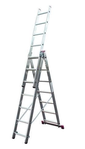 Трехсекционная универсальная лестница CORDA 3х7