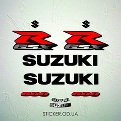 Набор наклеек Suzuki gsx-r 600 2006, наклейки на мотоцикл.