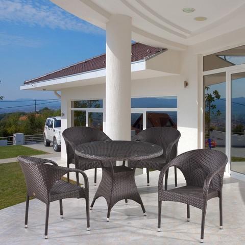 Комплект плетеной мебели T220CBT/Y290B-W52 Brown 4Pcs