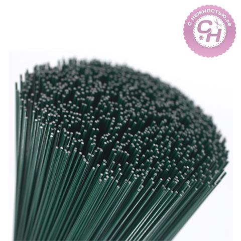 Проволока флористическая герберная, зеленая, 40 см.