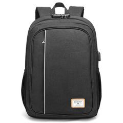 Рюкзак c USB и кодовым замком GoldenWolf GB00376 Черный