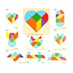 Тренируем логику с Головоломка Сердце, Raduga Kids, арт. RK1177
