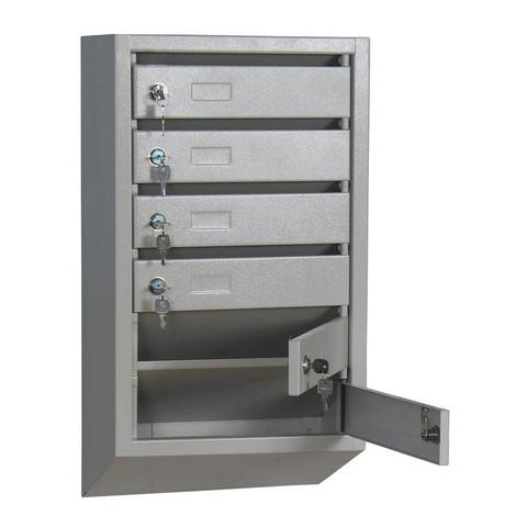 Ящик почтовый КП-6 6-секционный металлический серый (380x190x680 мм)