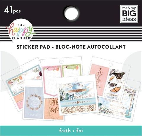 Блокнот со стикерами для ежедневника Happy Planner Tiny Sticker Pad Faith- 41 шт