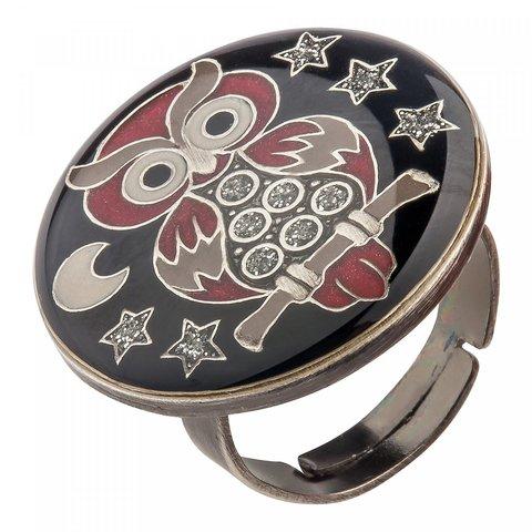 Кольцо Сова K27956-6 BW