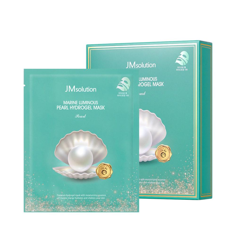 Гидрогелевая маска премиум-класса для глубокого увлажнения кожи MARINE LUMINOUS PEARL HYDROGEL MASK PEARL, 10 штук