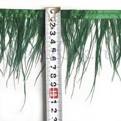 Купить оптом перья Страуса на ленте в интернет-магазине Emerald зеленые