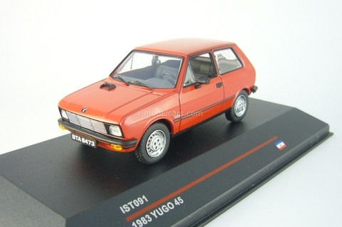 Yugo 45 red 1980 IST091 IST Models 1:43