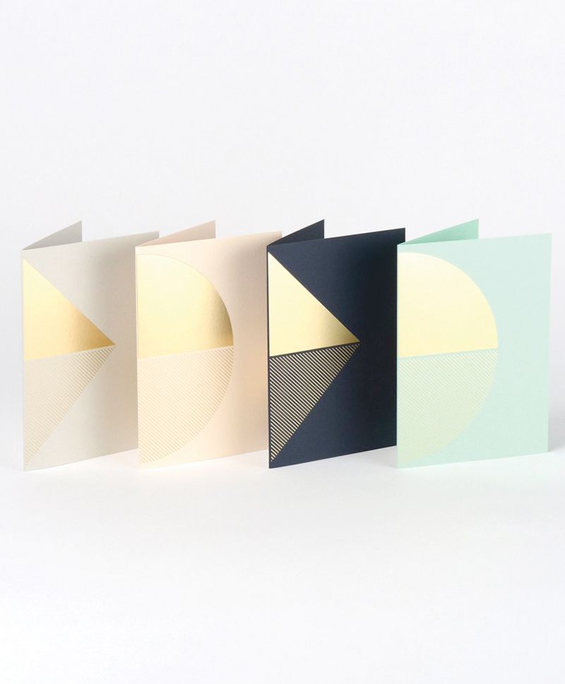 Открытка Reflex Card Brass & Grey