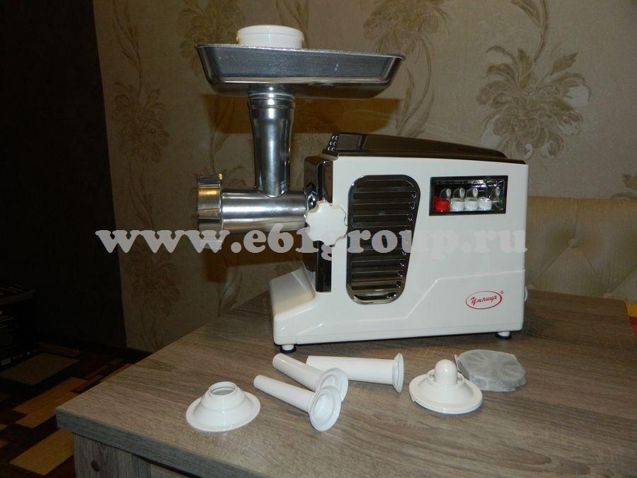 5 Мясорубка электрическая Комфорт Умница МЭ-3000Вт белая  хром. накладки стоимость