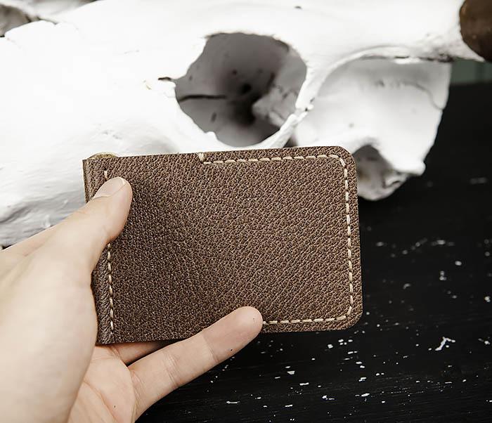 WB178-2 Мужской зажим для денег коричневого цвета фото 06