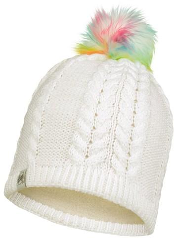 Шапка вязаная с флисом детская Buff Hat Knitted Polar Nina White фото 1