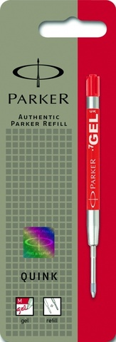 Cтержень гелевый  Parker Gel Pen Refill M, размер: средний, цвет: красный