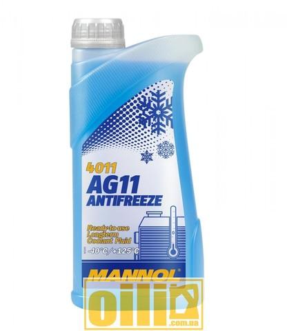 MANNOL 4011 Antifreeze AG11 -40°C Longterm 1л
