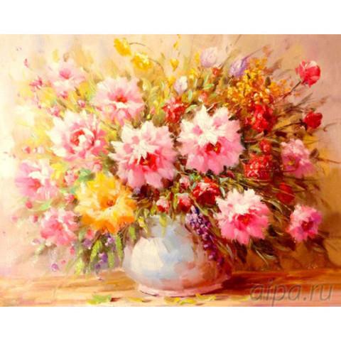 Aлмазная мозаика Букет нежных цветов
