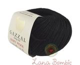 Пряжа Gazzal Baby Wool черный 803