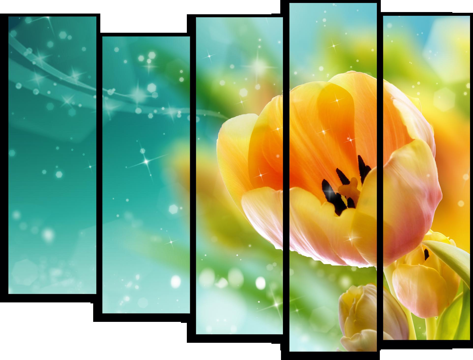 """Цветы Модульная картина """"Праздник весны"""" М768.png"""
