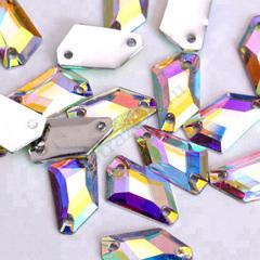 Пришивные стразы Cosmic Rhomb Космик Ромб Crystal AB