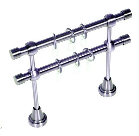 Карниз Кованый Серебро глянец 2.4м (гладкая труба D16)