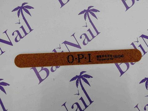Пилка тонкая OPI (180/240) коричневая, прямая