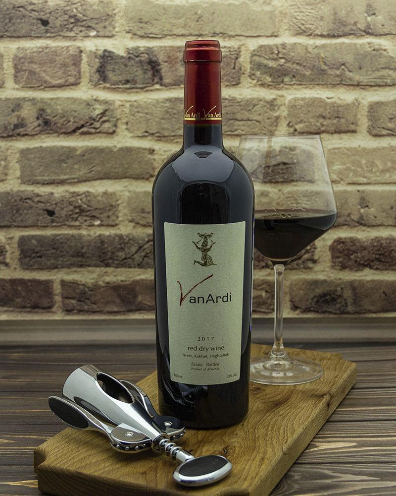 Вино Van Ardi Красное Сухое 2017 г.у. 13% 0,75 л.