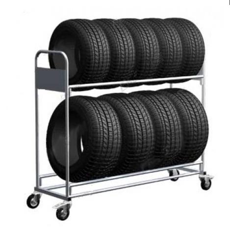 Тележка для транспортировки резины на шиномонтажных участках, автосервисное оборудование, 06.306, Ferrum